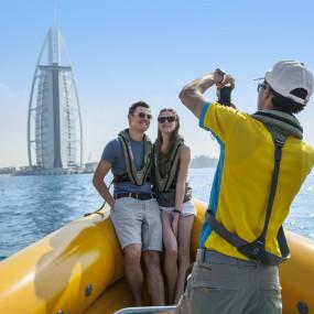 99 Minutes Boat Tour - The Original Tour (Palm Jumeirah, Burj Al Arab, Ain Dubai, Atlantis & Marina) in Dubai: Gallery Photo 3pekxz