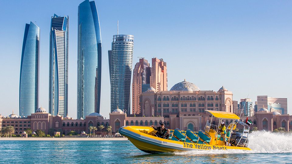60 Minutes Boat Tour- Emirates Palace Marina, Corniche, Lulu Island (Abu Dhabi),Yellow Boats (Abu Dhabi),Speed Boat Tours, Special Offers