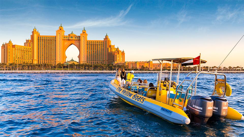 75 Minutes Boat Tour - The Atlantis Tour (Dubai Marina, Ain Dubai, JBR and Atlantis),Yellow Boats (Dubai),رحلات القوارب