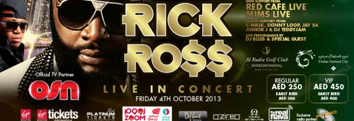 Defbeat Middle East Presents: RICK ROSS Live in Concert, Dubai Festival City, السهرات الليلية المميزة, الحفلات الحضرية