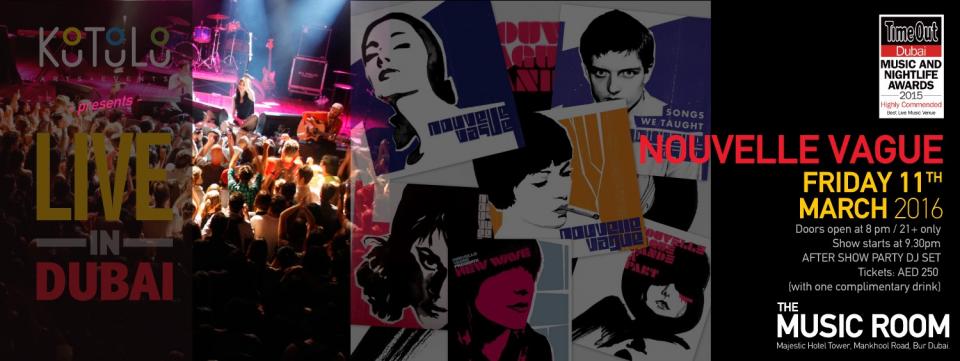 Nouvelle Vague Live In Dubai, The MUSIC ROOM DUBAI, Concerts, Popular