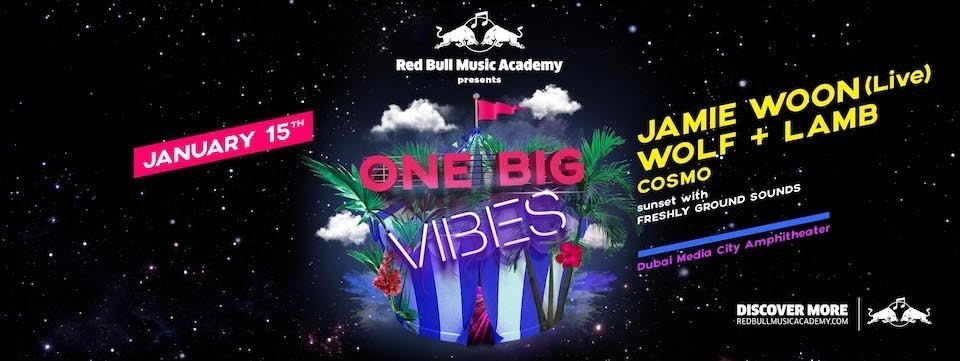 Redbull Music Academy presents ONE BIG VIBES, Media City Amphitheatre, Concerts, Popular