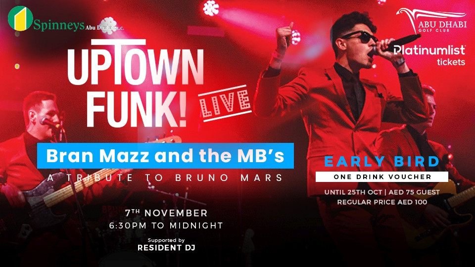 A Tribute To Bruno Mars By Bran Mazz And The MB's,Abu Dhabi Golf Club - AD,Live Music