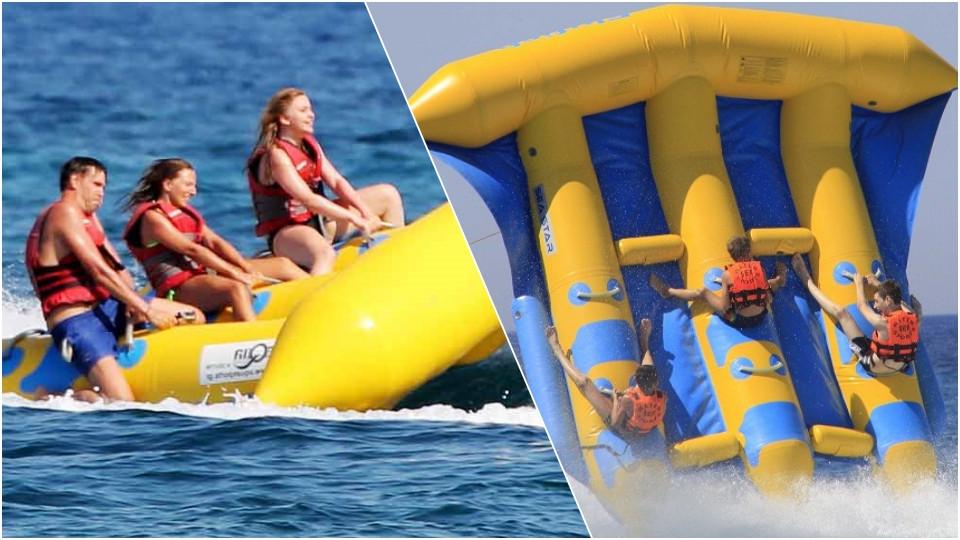 Aerial Inflatable Fly Fish Ride at JBR Dubai,Seawake Yacht Rental - JBR Public beach,Water Sports