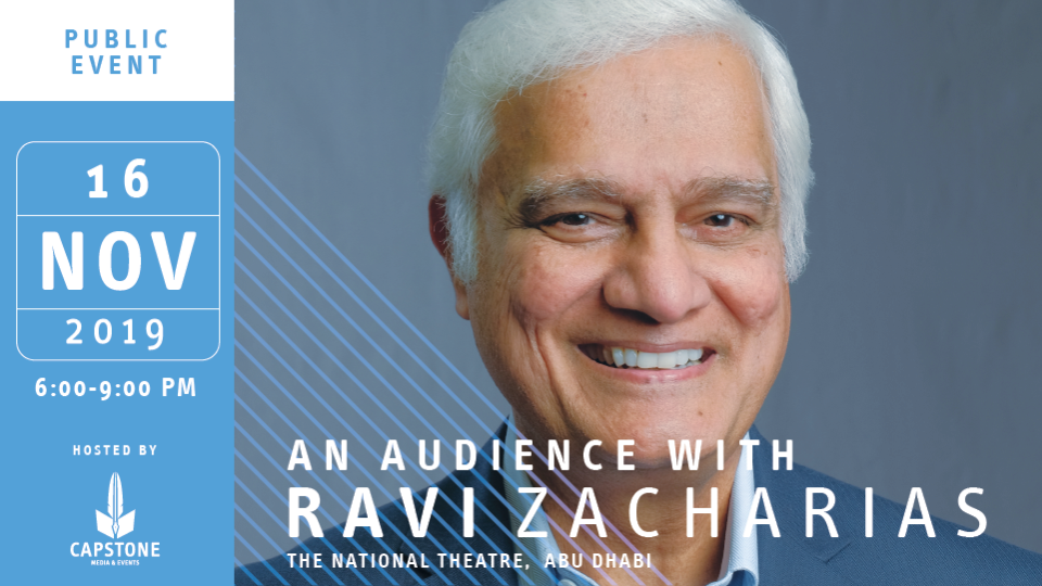 An Audience with Ravi Zacharias,National Theatre,Business Events, Seminar