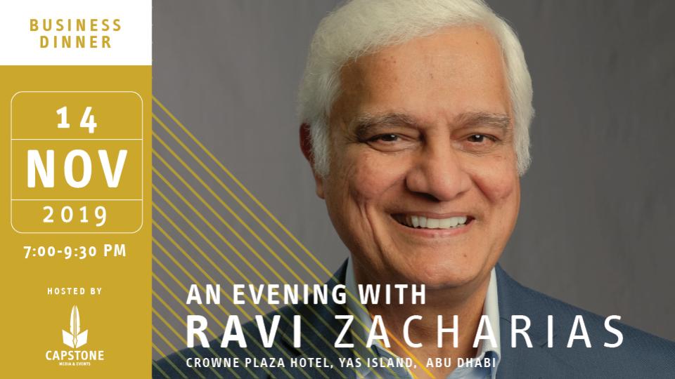 An Evening with Ravi Zacharias,Diyafa Ballroom, Crowne Plaza Hotel, Yas Island,SỰ KIỆN KINH DOANH, Seminar