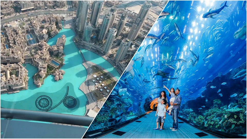 At the Top + Dubai Aquarium,Burj Khalifa,برج خليفة