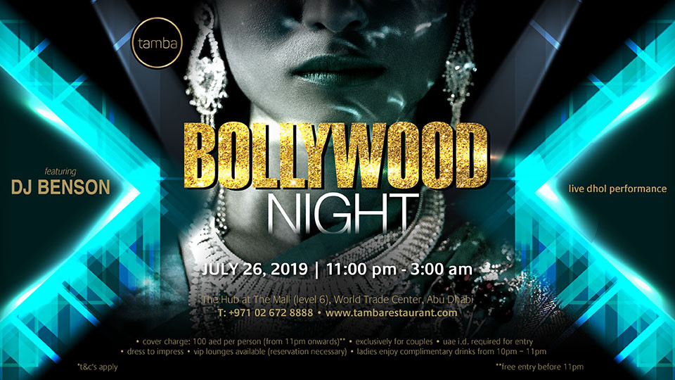 Bollywood Night, Tamba Restaurant, Desi Events