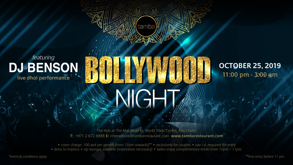 Bollywood Night,Tamba Restaurant,Desi Events