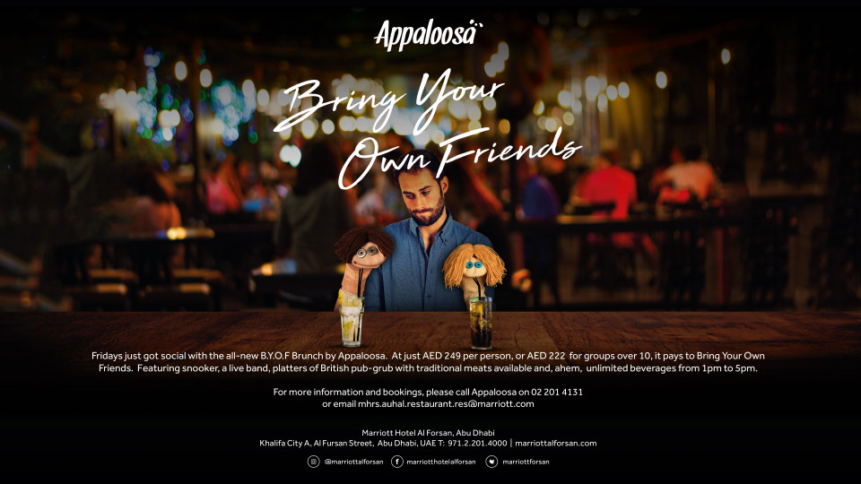 BYOF Brunch by Appaloosa,Appaloosa, Marriott Hotel Al Forsan Abu Dhabi,Brunches