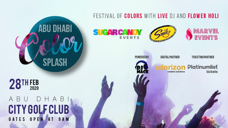 Color Splash 2020,Abu Dhabi Golf Club - AD,Holi Events, Desi Events