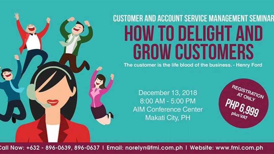 Customer and Account Service Management Seminar 2018,مانيلا