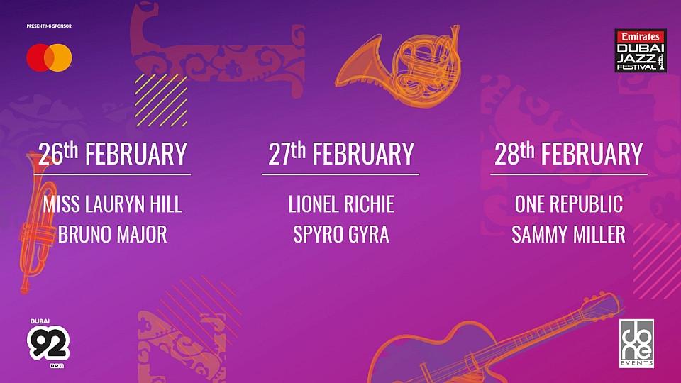 Emirates Airline Dubai Jazz Festival 2020,Lionel Richie