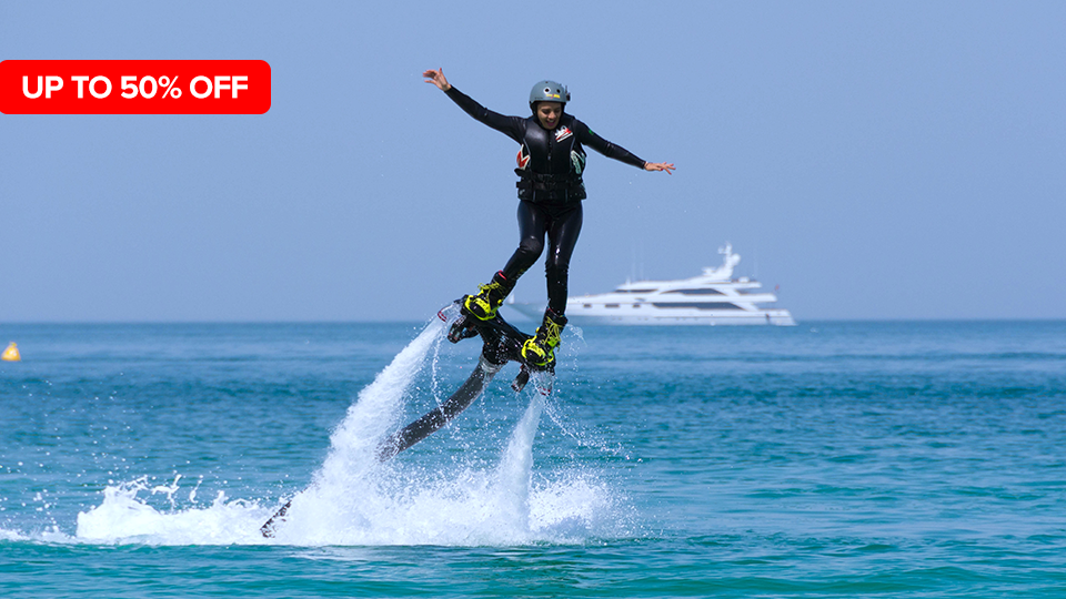 Flyboard Experience in Dubai Marina,Marina Water Sports,Water Sports, Special Offers