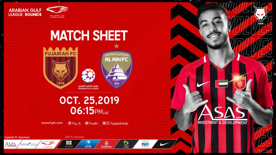 Fujairah FC Vs Al Ain FC,Fujairah Stadium,Arabian Gulf League, Al Fujairah FC