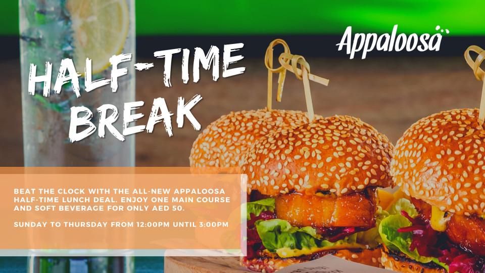 Half-Time Break, Appaloosa, Marriott Hotel Al Forsan Abu Dhabi, Specials of the Week