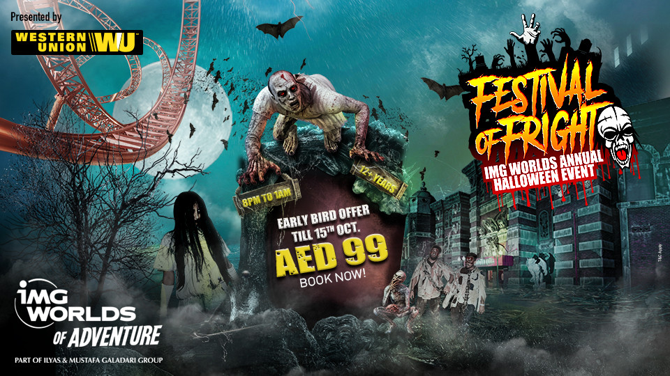 Halloween at IMG Worlds: Festival of Fright,IMG Worlds of Adventure Dubai,Halloween