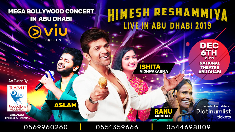 Himesh Reshammiya Live in Abu Dhabi 2019,Abu Dhabi National Theater,Rock, Concerts, Desi Events