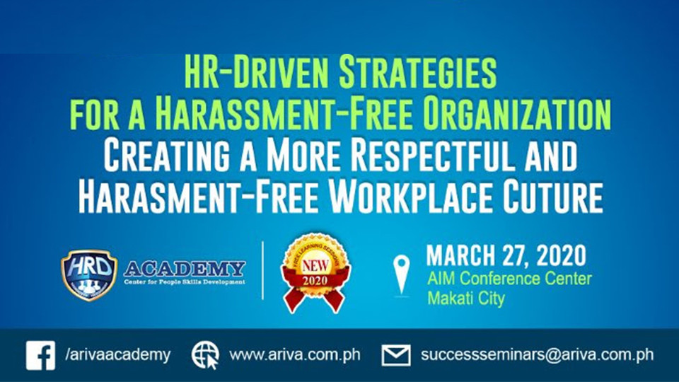 HR-Driven Strategies  for a Harassment-Free organization,Metro Manila