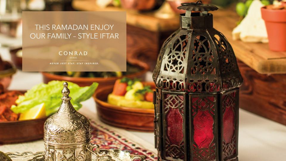 Iftar at Conrad Dubai, Conrad Dubai, Ramadan