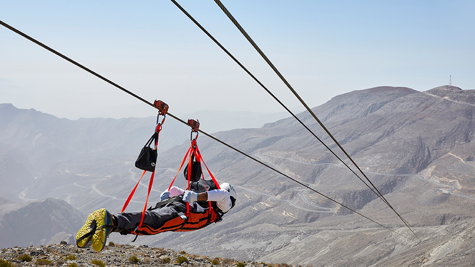Jebel Jais Flight – World's Longest Zipline,Zipline, Jebel Jais,Jebel Jais