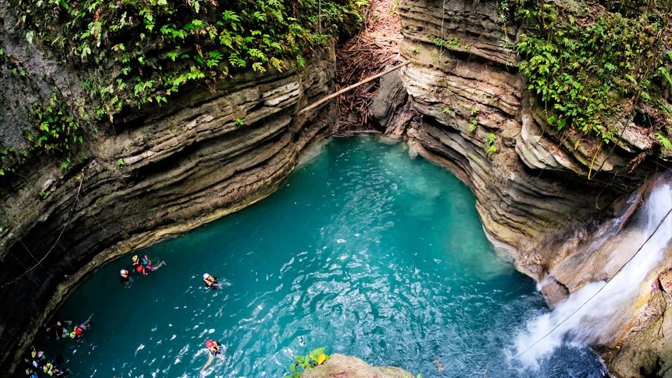 Canyoneering + Kawasan Falls,Cebu City, Badian, Cebu,TOUR DU LỊCH