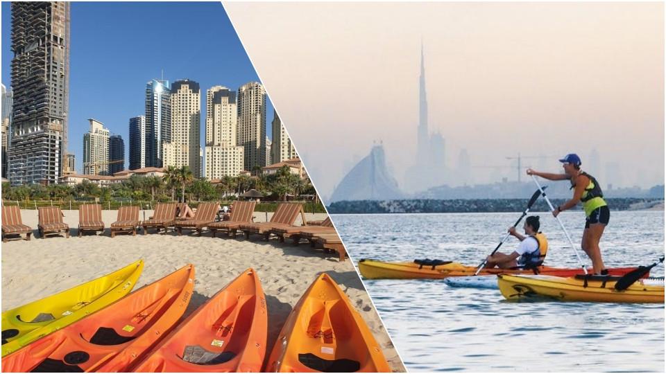 Kayaking at JBR Dubai,Seawake Yacht Rental - JBR Public beach,Water Sports
