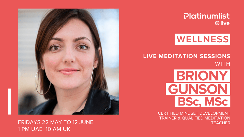 Live Meditation Sessions with BRIONY GUNSON, Online Events, Sports and Fitness