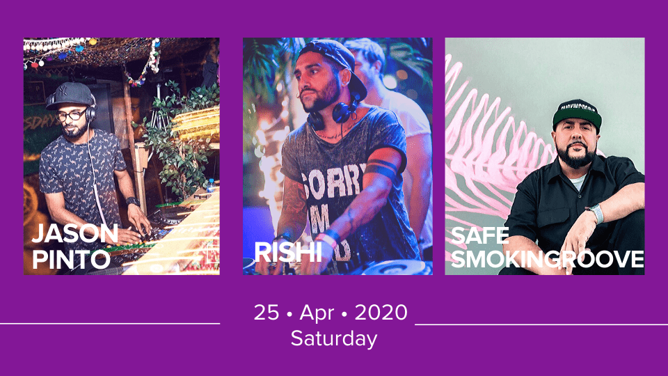 Live Sessions with Jason Pinto, Rishi, Safe Smokingroove, Online Events