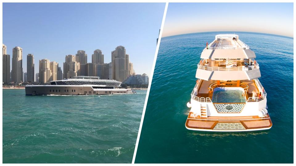 Lotus / Desert Rose Mega Yacht Dinner Cruise,DUBAI MARINA PIER 7,Yacht Brunches