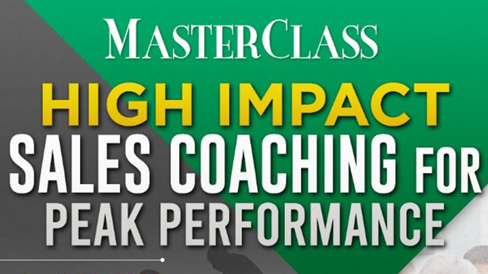MASTERCLASS:High Impact Sales Coaching  for Peak Performance, Marco Polo Ortigas, Manila, Seminars