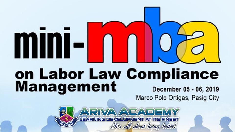 Mini-MBA for Labor Law  Compliance Management,Marco Polo Ortigas, Manila,الندوات