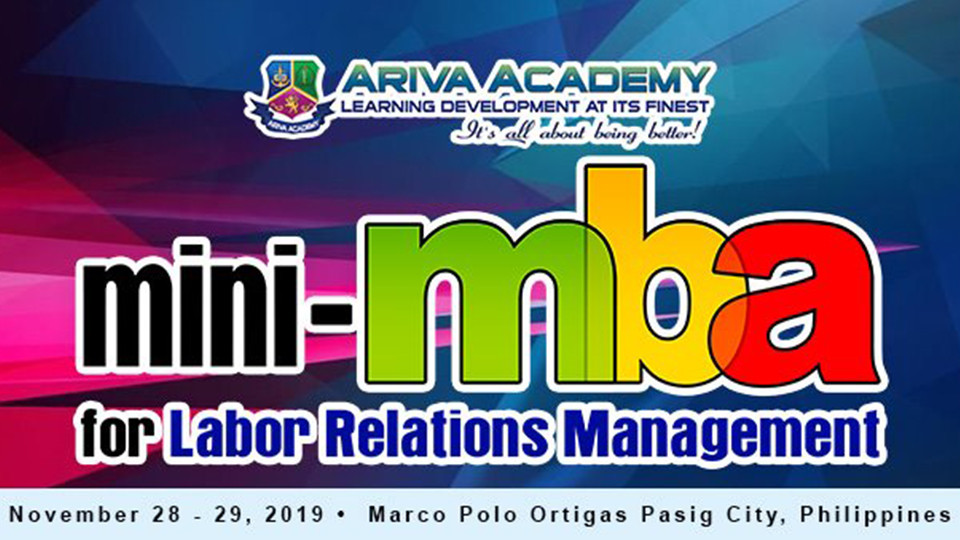Mini-MBA on Labor Relations Management,Marco Polo Ortigas, Manila,الندوات