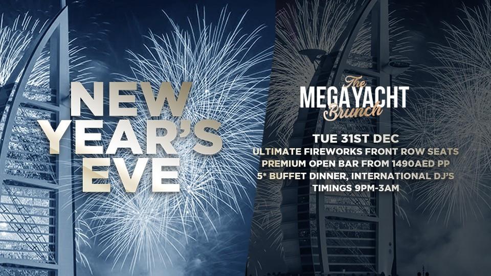 NEW YEAR'S EVE MEGA YACHT BRUNCH PARTY NYE 2020,Lotus, pier 7,ليلة راس السنه