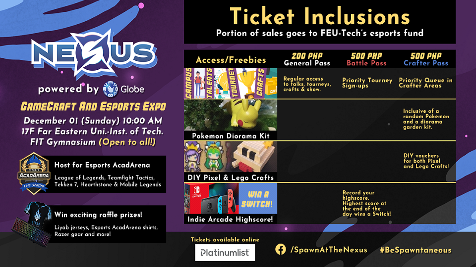 Nexus: GameCraft and Esports Expo,Far Eastern University Institute of Technology,Conventions