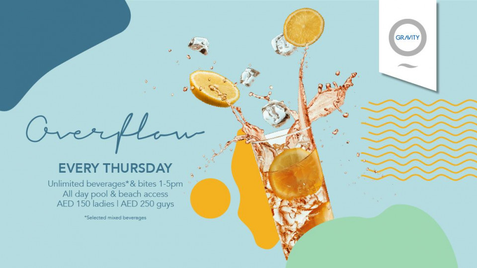 Overflow every Thursday!,Zero Gravity,Specials of the Week