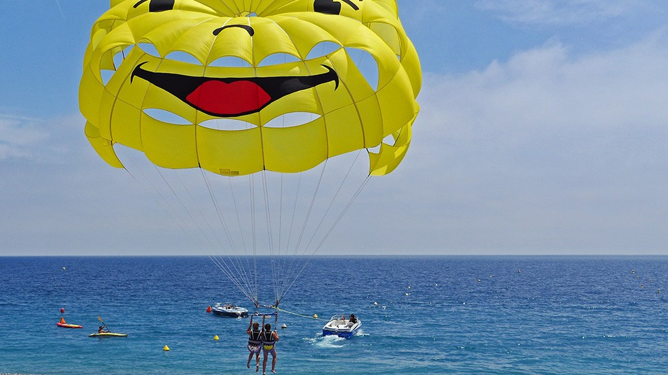 Parasailing in Dubai Marina,Parasailing,Aerial Adventures, Water Sports