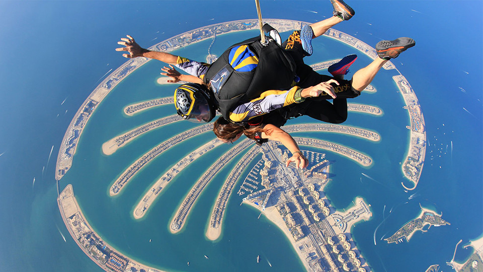 Tandem Skydive Palm Drop,Skydive Dubai,Aerial Adventures