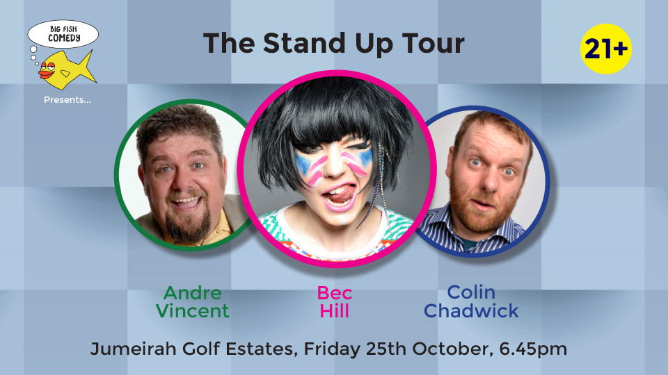 Big Fish Comedy - The Stand Up Tour at Jumeirah Golf Estates,Jumeirah Golf Estates,احداث كوميديا