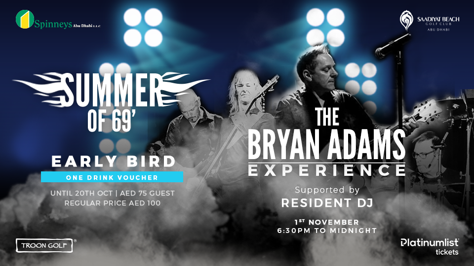 The Bryan Adams Experience -The Ultimate Night of Rock N' Roll,Saadiyat Beach Golf Club,Concerts, Rock