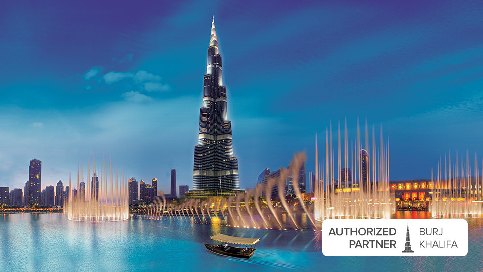 The Dubai Fountain Lake Ride,Dubai Lake Fountain Ride,برج خليفة