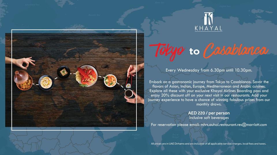 Tokyo to Casablanca, Khayal, Marriott Hotel Al Forsan, Specials of the Week