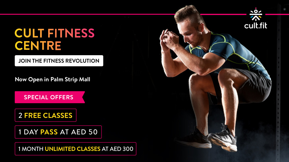 Trainer Led Group Classes at Cult.Fit Fitness Centre,Palm Strip Mall, Next to La Mer.,Health and Wellness