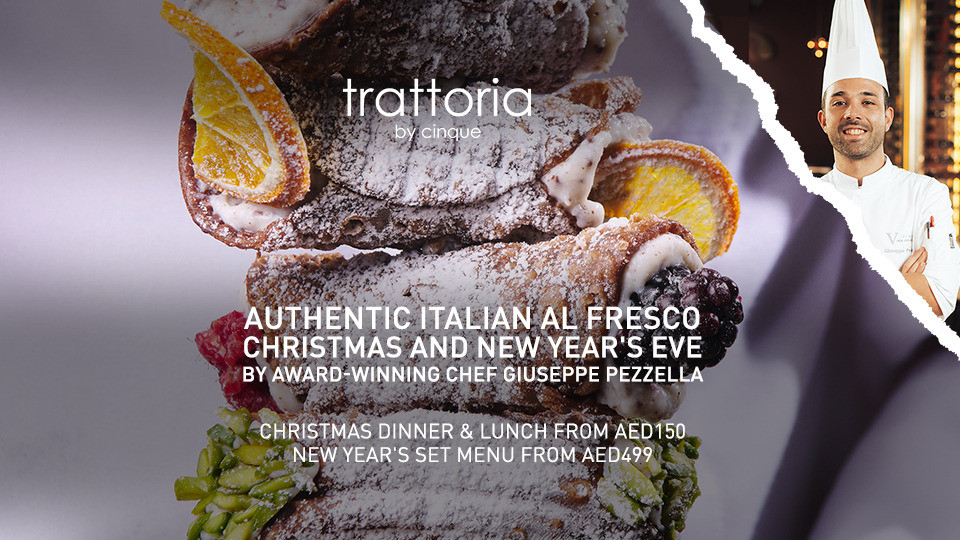 Trattoria Christmas, Five Jumeirah Village, Christmas