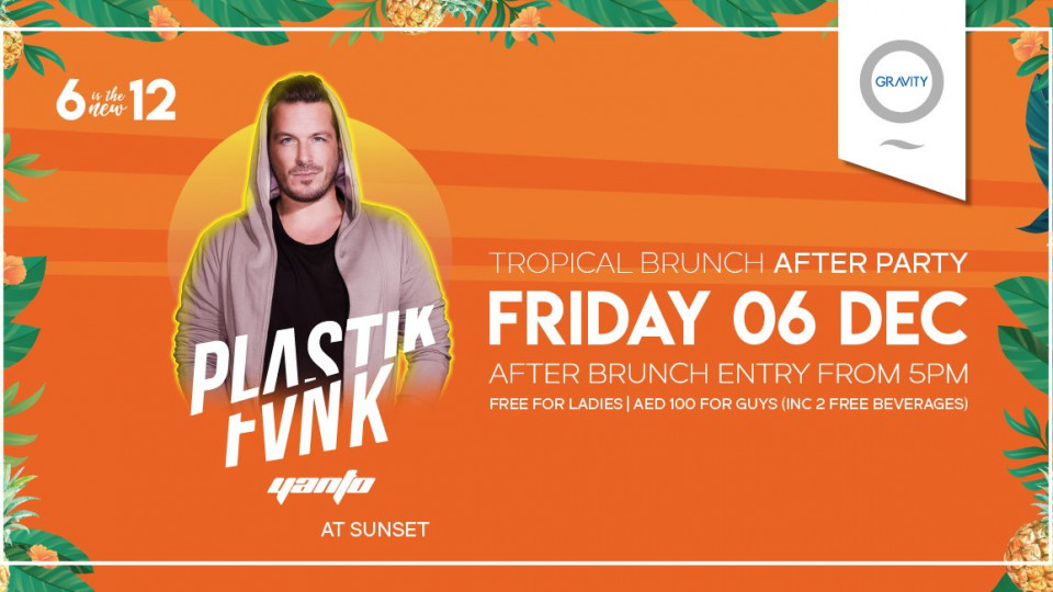 Tropical Brunch After Party with Plastik Funk,Zero Gravity,Beach Club