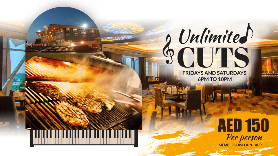 Unlimited Cuts at the Grille Restaurant,Abu Dhabi Golf Club - AD,Specials of the Week