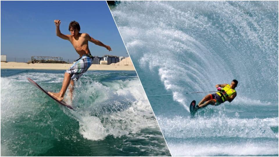 Water Skiing & Wake Skate at JBR Dubai,Seawake Yacht Rental - JBR Public beach,Water Sports